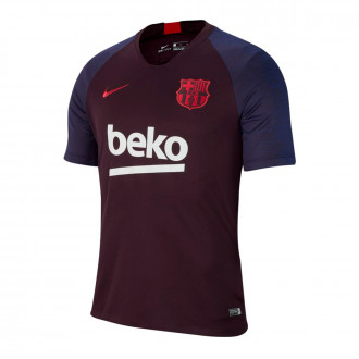 Playera Nike FC Barcelona Breathe Strike 2019-2020 Burgundy ash-Noble red