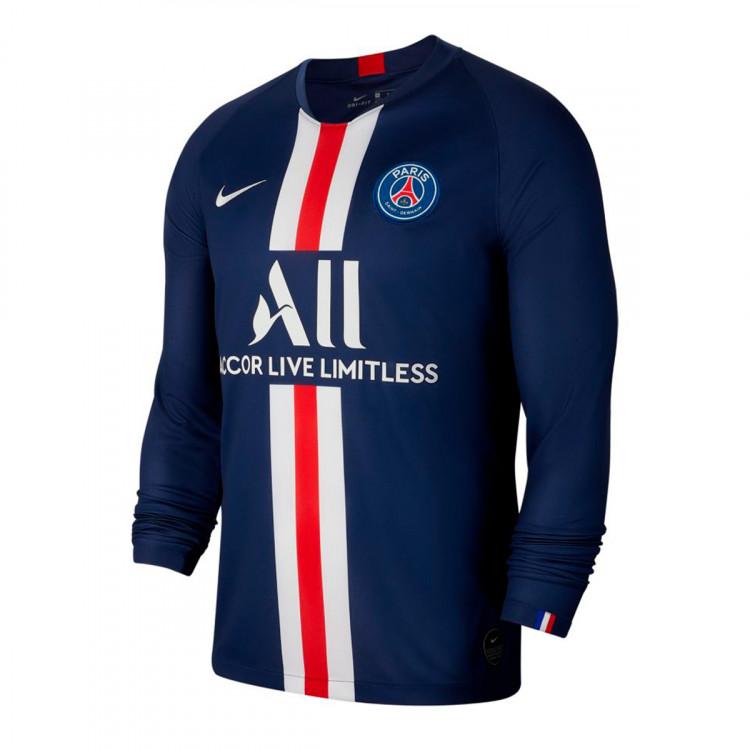 Jersey Nike Paris Saint Germain Breathe Stadium 2019 2020 Home Midnight Navy White Football Store Futbol Emotion