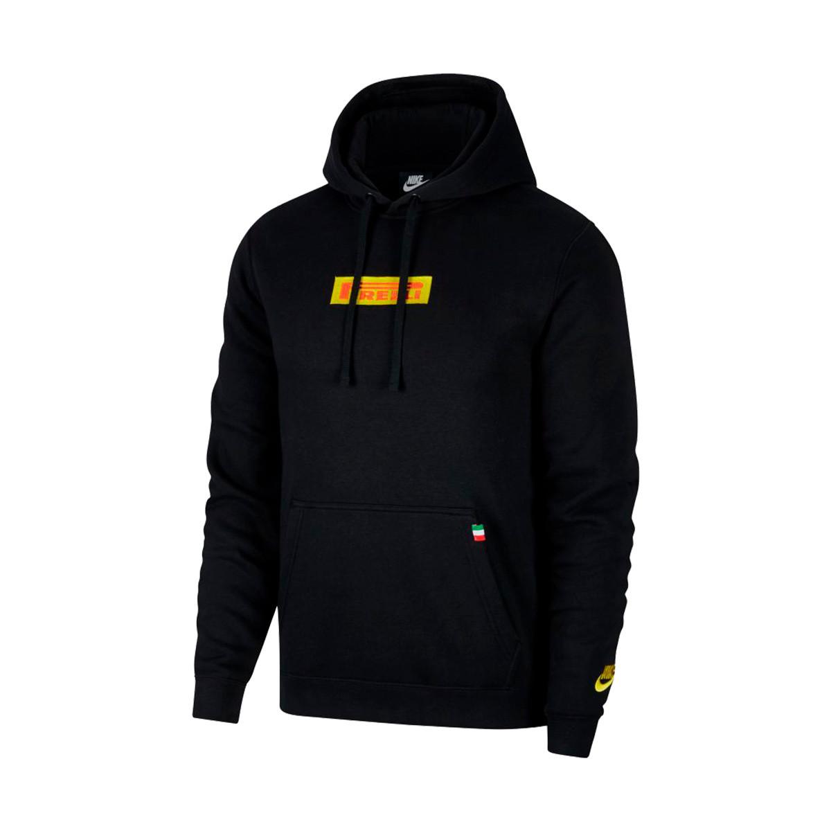 nike black and yellow hoodie