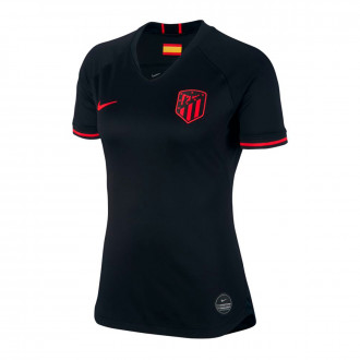 Camiseta Nike Atletico de Madrid Breathe Stadium Segunda Equipación 2019-2020 Mujer Black-Challenge red