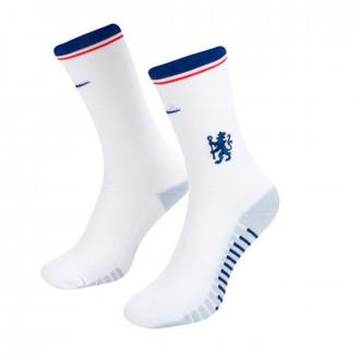 Chaussettes Nike Chelsea FC Squad Crew GFX 2019-2020 White-Rush blue-Gym blue