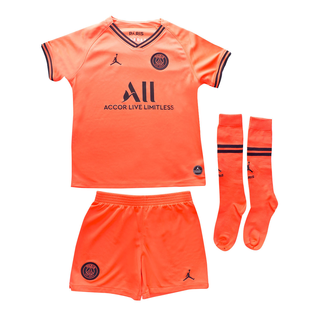 sale retailer 4b886 0f256 Conjunto Paris Saint-Germain Breathe Segunda Equipación 2019-2020 Niño  Infrared-Black