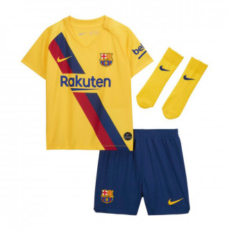 Kit  Nike FC Barcelona Breathe Segunda Equipación 2019-2020 Niño Varsity maize