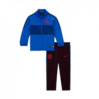 Fato de treino Nike FC Barcelona Dry Strike 2019-2020 Niño Lyon blue-Burgundy ash-Noble red