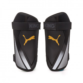 Shinpads Puma King ES 2 Puma black-Gold-Puma white