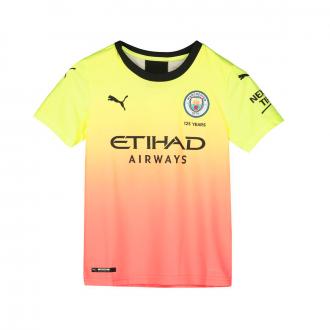 Camiseta Puma Manchester City FC Tercera Equipación 2019-2020 Niño Fizzy yellow-Georgia peach
