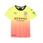 Camiseta Manchester City FC Tercera Equipación 2019-2020 Niño Fizzy yellow-Georgia peach
