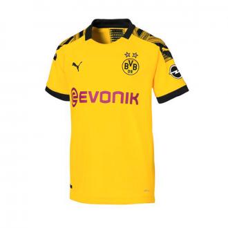 Camisola  Puma BVB Primera Equipación 2019-2020 Niño Cyber yellow-Puma black