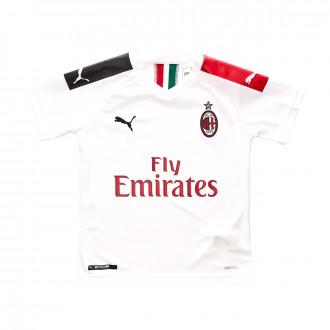 Maillot Puma AC Milan Segunda Equipación 2019-2020 Niño Puma white-Tango red