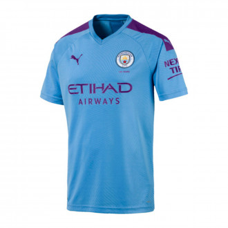 Camiseta  Puma Manchester City FC Primera Equipación 2019-2020 Team light blue-Tillandsia Purple