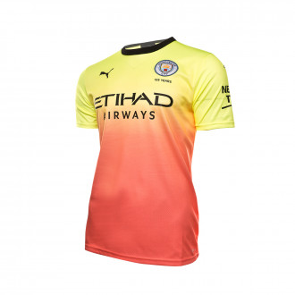 Maillot  Puma Manchester City FC Third 2019-2020 Fizzy yellow-Georgia peach
