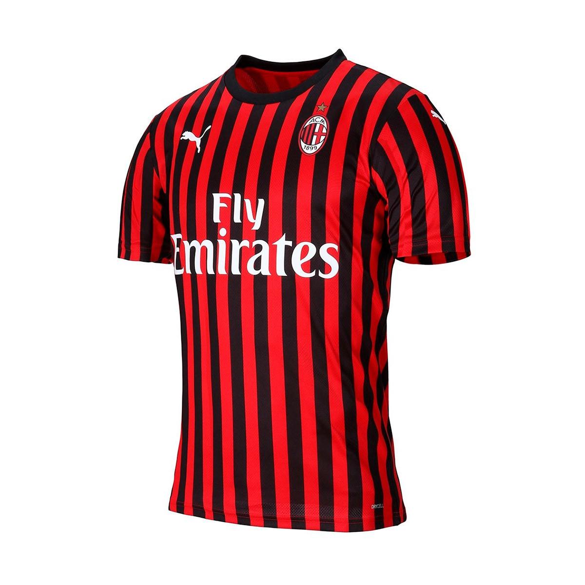 new style a943a 2bb3b Camiseta AC Milan Primera Equipación 2019-2020 Tango red -Puma black