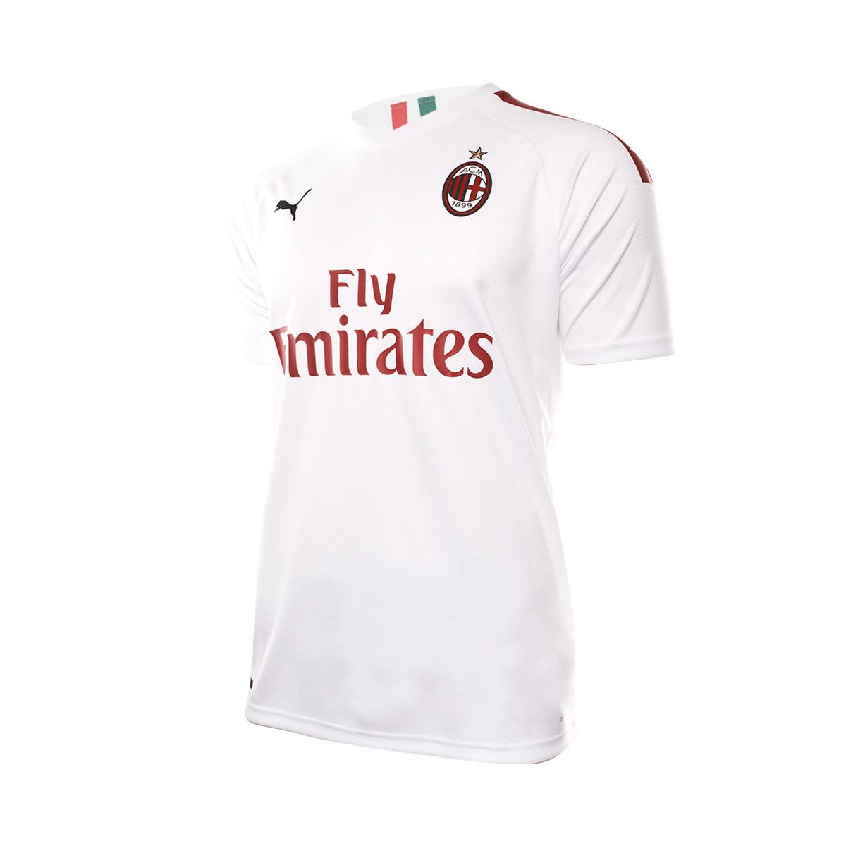 best service e9a8b 6230d Camiseta AC Milan Segunda Equipación 2019-2020 Puma white-Tango red