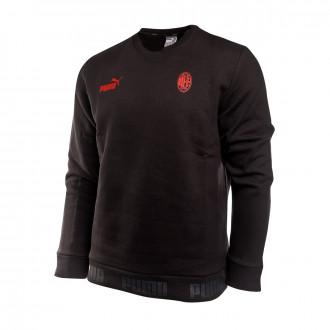 Sudadera  Puma AC Milan FtblCulture 2019-2020 Puma black-Tango red