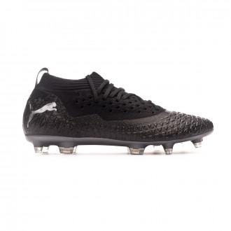 Chaussure de foot Puma Future 4.2 NETFIT FG/AG Puma black-Puma aged silver