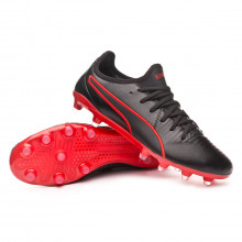 Chuteira King Pro FG Black-Red