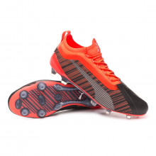 Chaussure de foot One 5.1 FG/AG Puma black-Nrgy red-Puma aged silver