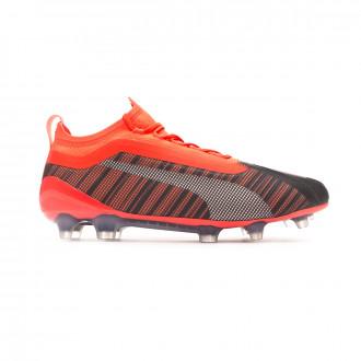 Zapatos de fútbol Puma One 5.1 FG/AG Puma black-Nrgy red-Puma aged silver