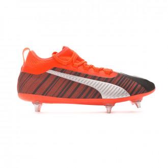 Zapatos de fútbol Puma One 5.2 SG Puma black-Nrgy red-Puma aged silver