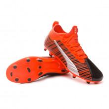 Chaussure de foot One 5.3 FG/AG Puma black-Nrgy red-Puma aged silver