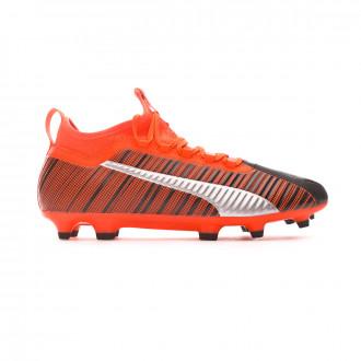 Football Boots  Puma One 5.3 FG/AG Puma black-Nrgy red-Puma aged silver