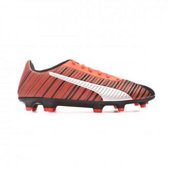 Chaussure de foot Puma One 5.4 FG/AG Puma black-Nrgy red-Puma aged silver