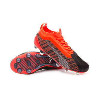 Kids One 5.1 FG/AG  Puma black-Nrgy red-Puma aged silver