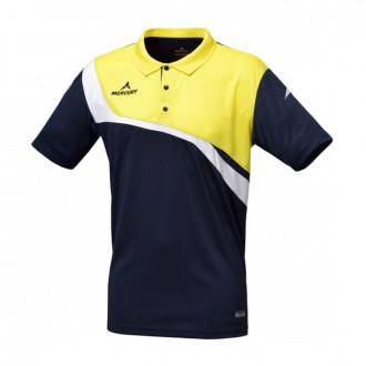 Polo shirt Mercury Noruega Navy blue-Yellow