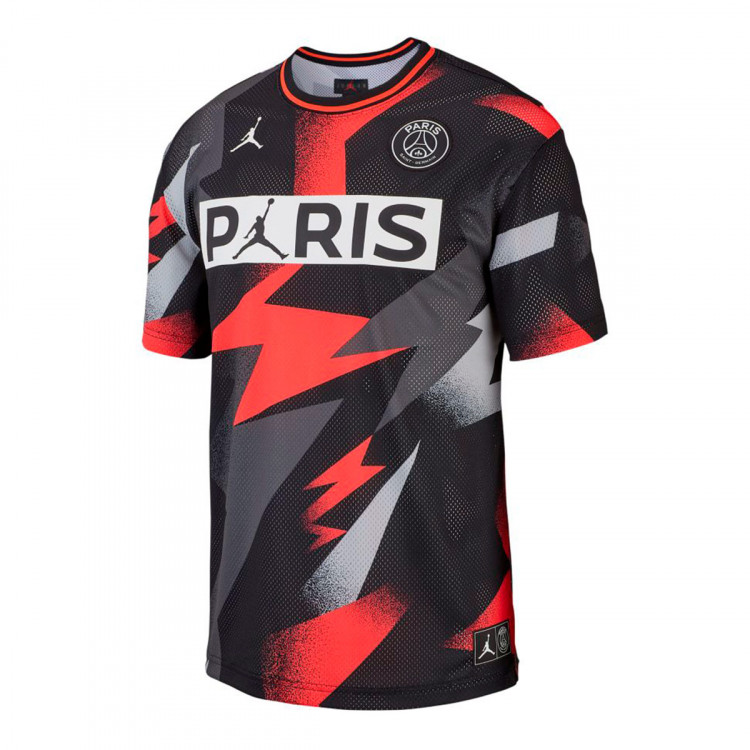 Acuoso conductor Grande  Jersey Nike Paris Saint-Germain Jordan Mesh 2019-2020 Black-Infrared -  Football store Fútbol Emotion