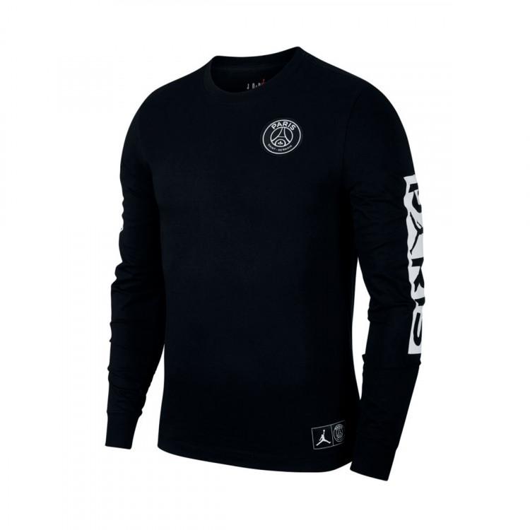 estilo de moda moda atractiva vende Sudadera Paris Saint-Germain Jordan 2019-2020 Black-White