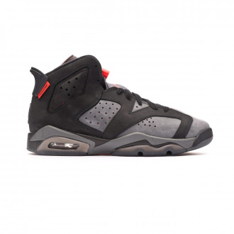 Baskets Nike Paris Saint-Germain Jordan VI Rétro Enfant Iron grey-Black-Infrared