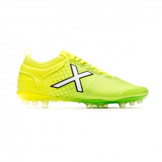 Zapatos de fútbol Munich Tiga Mundial Yellow-Green