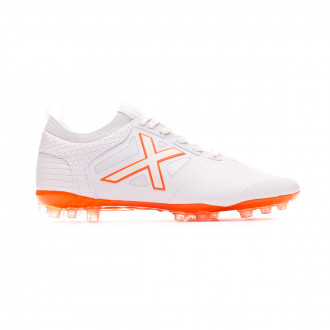 Zapatos de fútbol Munich Tiga Mundial White-Orange