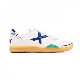 Chaussure de futsal  Munich Gresca 80ª Anniversaire Blanc-Bleu