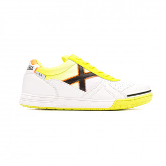Zapatilla Munich G3 Indoor Blanco-Amarillo Flúor