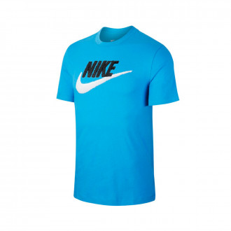Camiseta Nike Sportswear Light photo blue-Black-White