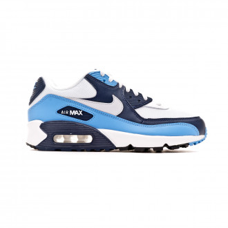 Tenis Nike Air Max '90 Essential Shoe White-Pure platinum-University blue