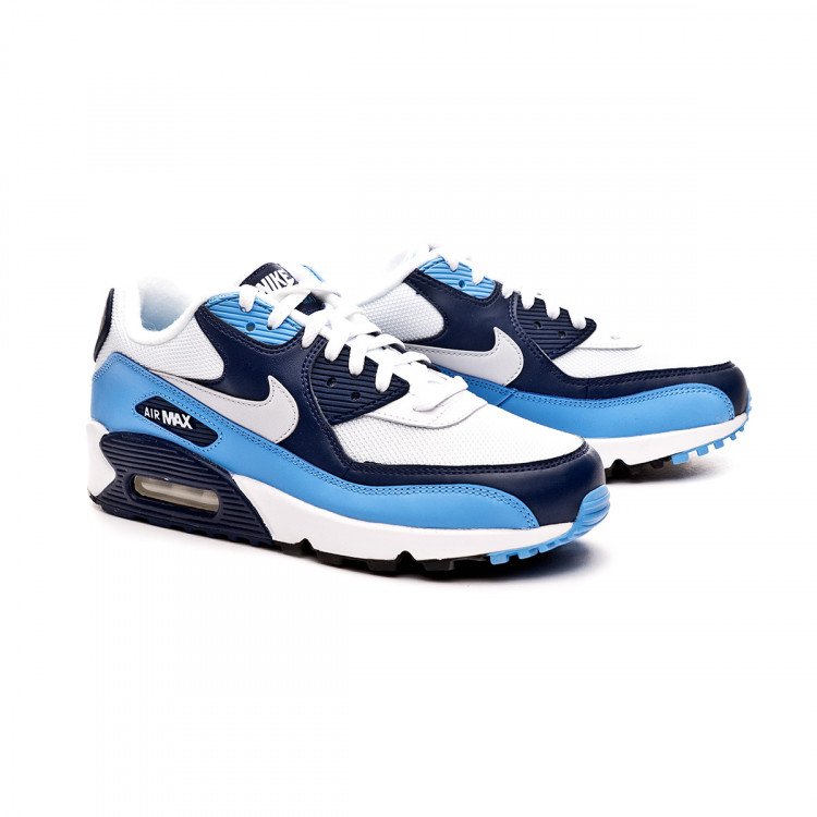 Air Max 90 Essential White Pure Platinum University Blue