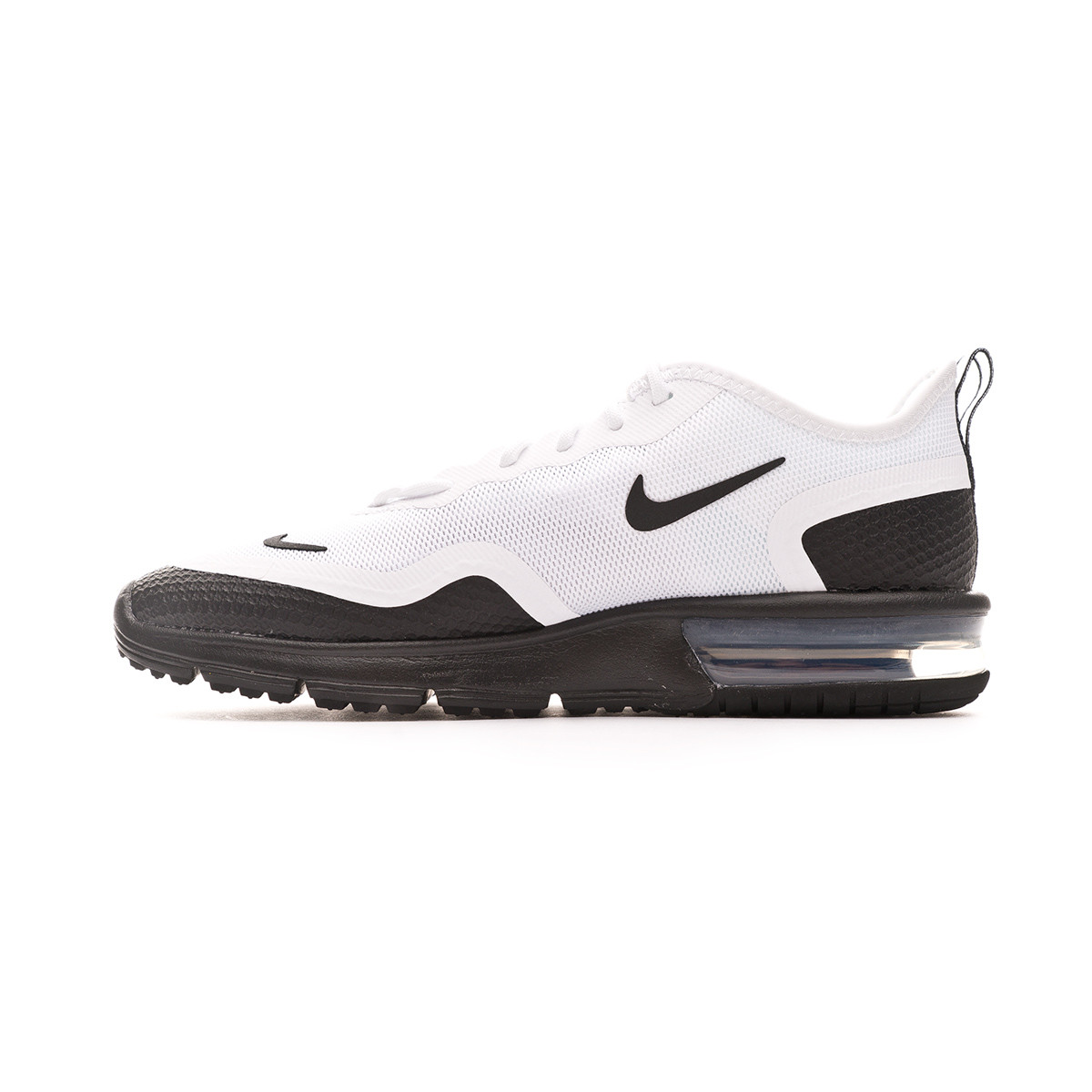 visitante Trampolín Padre  Trainers Nike Air Max Sequent 4,5 White-Black - Football store ...