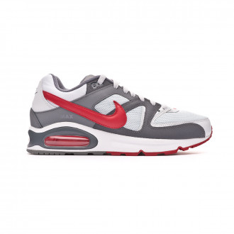 Baskets Nike Air Max Command Shoe Pure platinum-Gym red-Dark grey