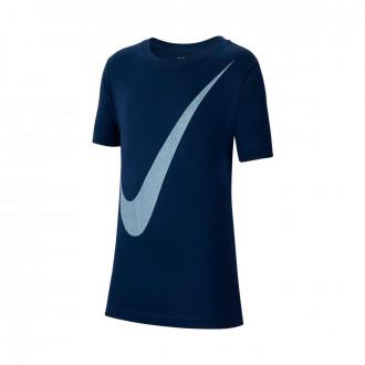 Playera Nike Sportwear Niño Midnight navy-White