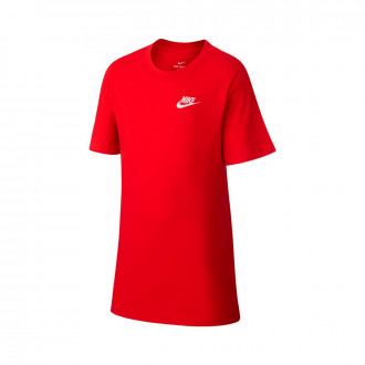 Camiseta Nike Sportwear EMB Futura Niño University red-White