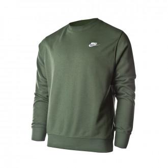 Playera Nike Sportwear Club Crew Galactic jade-White