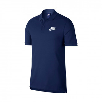 Polo shirt Nike Sportswear Midnight navy-White