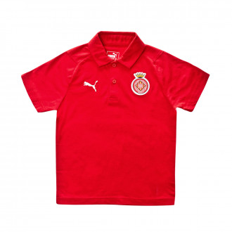 Polo Puma Girona FC Liga Casuals 2019-2020 Niño Red-White