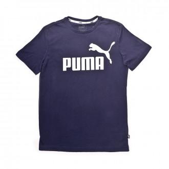 Maillot  Puma ESS Logo Enfant Peacoat