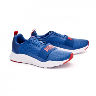 Tenis  Puma Wired Niño Galaxy blue-High risk red