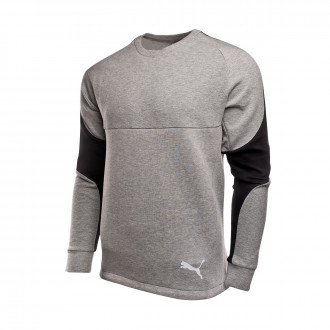 Sudadera  Puma Evostripe Crew Medium gray heather
