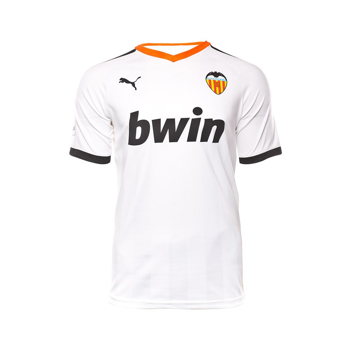 Demon Play Vacante virar  Camiseta Puma Valencia CF Pro Primera Equipación 2019-2020 Puma white-Puma  black-Vibrant orange - Tienda de fútbol Fútbol Emotion