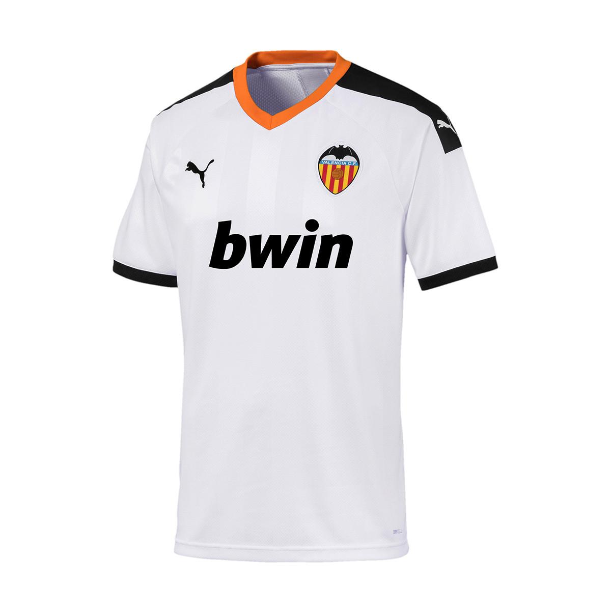b6981392a Jersey Puma Valencia CF Primera Equipación 2019-2020 Puma white-Puma  black-Vibrant orange - Tienda de fútbol Fútbol Emotion